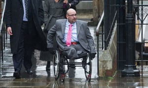 Daniel Biddle arrives at the High Court to give evidence in the 7th July bombings inquest in London.