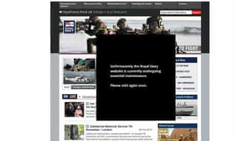 The Royal Navy website has been suspended