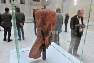 Berlin Museum: View of German artist Emy Roeder's sculp