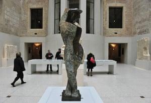Berlin Museum: View of German artist Marg Moll's sculpt