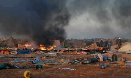 Moroccan forces dismantle camp in Western Sahara