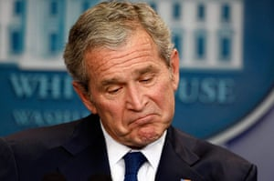 George W Bush: 12 January 2009:  US President George W Bush holds his last news conference