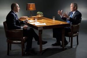 George W Bush: October 2010: NBC News' Matt Lauer speaks with President George W Bush
