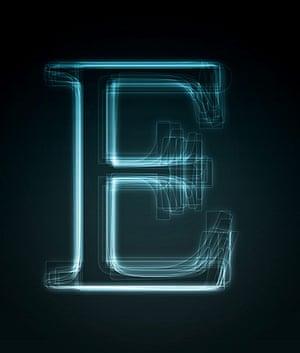 Alphabets book: E, Shiny Letter E