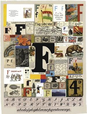 Alphabets book: Letter F (Detail), Alphabet.