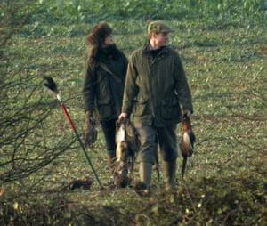 Kate Middleton & William: Prince William and Kate Middleton on a pheasant shooting