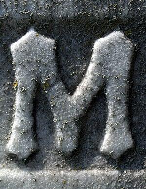 Alphabets book: Gravestone M