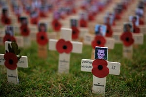 Wootton Bassett :  cross of remembrance in memory of Lance Corporal