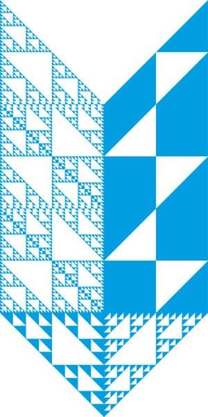 Alphabets book: V from Kögra typeface