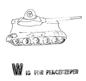 Alphabets book: W is for Peacekeeper from A is for Book