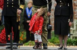 Wootton Bassett : Melanie Patten  stands in front of her father Lance Corporal Ram Patten
