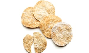 Salted oat crackers