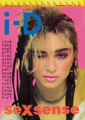 i-D: The Sexsense Issue, May 1984 with Madonna