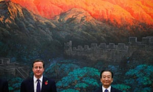 David Cameron and Chinese premier Wen Jiabao