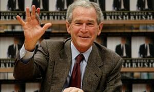 """George W. Bush Signs Copies Of Memoir """"Decision Points"""""""