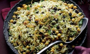 Basmati and wild rice with chickpeas
