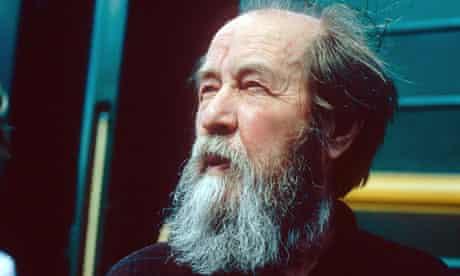 Russian author Alexander Solzhenitsyn