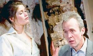 Gemma Arterton and Stephen Dillane in The Master Builder at the Almeida Theatre