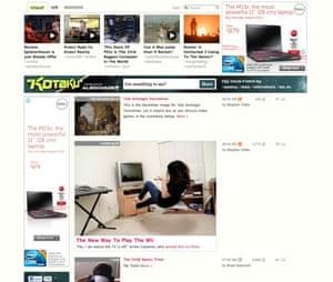 Gawker's Kotaku games site, redesigned