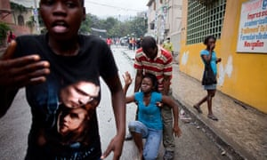 Port-au-Prince protesters