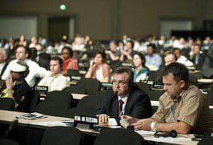 Cacun COP16 update: Picture taken during the plenary session