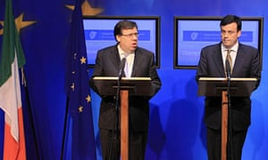 Irish prime minister Brian Cowen and finance minister Brian Lenihan