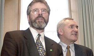 Gerry Adams with Bertie Ahern in Dublin in 2001