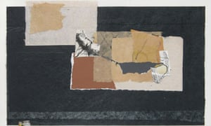 Comp with Etched Fragment (2007), paper collage, by Doris Seidler