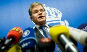 Swedish chief prosecutor Thomas Linstran
