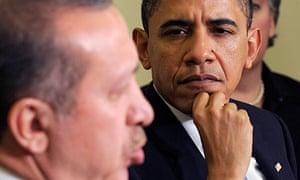 Barack Obama and Turkish prime minister Recep Tayyip Erdogan