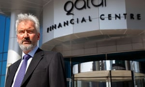 Robert Musgrove outside the Qatar financial centre.