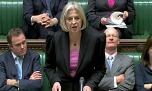 Theresa May in the Commons on 13 December 2010.