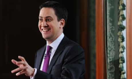 Labour leader Ed Miliband holds first monthly press conference