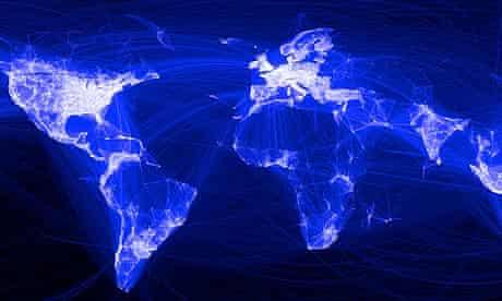 Facebook friends map