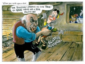 Martin Rowson: Nick Clegg as Pinocchio