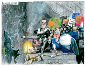 Martin Rowson: riots in the streets