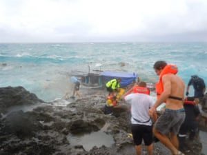 Christmas Island: Boat full of asylum refugees crash at Christmas Island, Australia