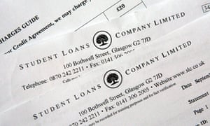 Paperwork from the Student Loans Company