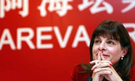 Areva chief executive Anne Lauvergeon li