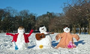 Let's Get Lyrical's organisers made snowman versions of John Lennon, Bob Dylan and Elton John in the Meadows