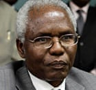 Kenya's secretary to the cabinet Francis Kirimi Muthaura addresses a news conference.
