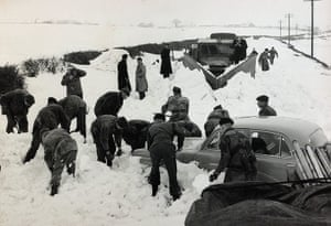 1962 Winter Freeze: Royal Marines and snowplough trying to clear snow