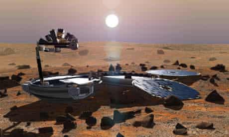 Artist's impression: Beagle 2 on Mars