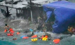 Refugees off Christmas Island