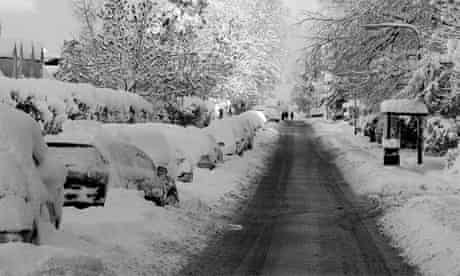 Edinburgh's outlying villages like Balerno have been hardest hit by the snow | pic: Bea Symington from the Guardian Edinburgh Flickr stream