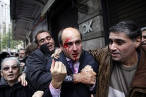 Riots in Athens: Costis Hatzidakis after he was attacked by protesters
