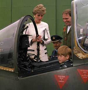 Harrier Jets Cuts: Royalty - Princess of Wales - RAF Whittering