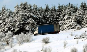 Lorry in the snow