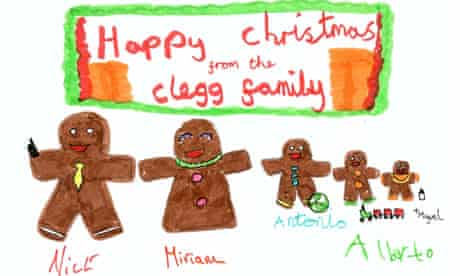 Nick Clegg's Christmas card 2010.