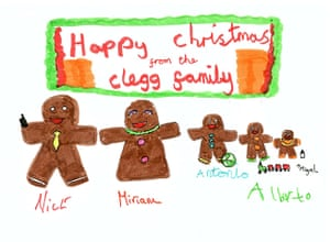 Leader Christmas Cards: Nick Clegg's Christmas card